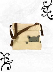 Curious Cat Shoulder Bag